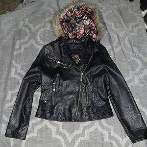 Jou Jou leather coat medium!